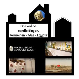 Odigibu Rijksmuseum van Oudheden 3 rondleidingen romeinen - glas - Egypte